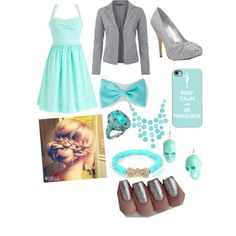 """Beautiful blue outfit"" by hayleycavanaugh on Polyvore"