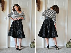 I'm totally going to have to sew a circle skirt with horsehair braid now.