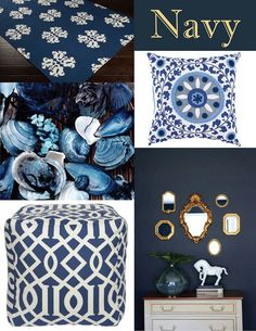 We are loving this Navy trend! What do you think -- where would you use this color in your home?