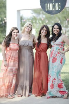 Mismatched bridesmaid dresses! Isaac and Katrina's Bohemian Chic ...