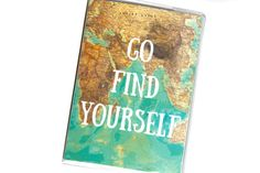 PASSPORT COVER  Go Find Yourself by TwoPolkaDots on Etsy