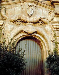 decorative door - Rome, Italy