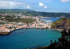 City of Horta, Faial Island - Azores, Portugal.