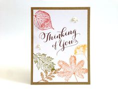 Fall Thinking of You Card  Autumn Card  Fall by MyPrettyPaper