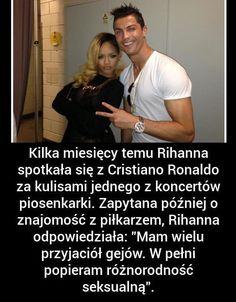 Mam wielu przyjaciół gejów. W pełni popieram różnorodność seksualną • Rihanna tak powiedziała o Cristiano Ronaldo • Wejdź i zobacz >>