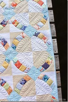 Metro hoops pattern - one of my favorites.  I love this quilting.