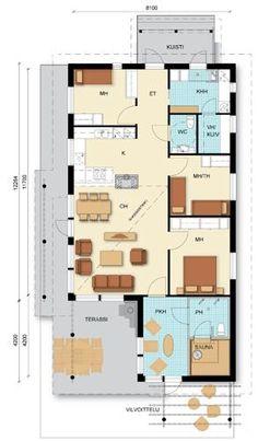 Iso - Talomalli: Herrala, Vapaaherra Decoration, Tiny House, Buildings, Floor Plans, Layout, Inspiration, Home Decoration, Decor, Biblical Inspiration