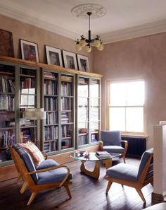 Gorgeous, inviting library.