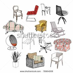 Furniture. Chair. Sofa. Modern & classic