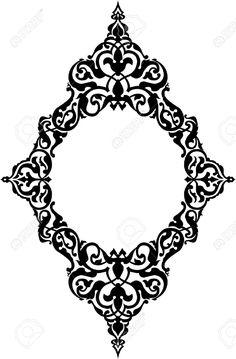 23185871-Ornamental-eastern-design-border-frame-monochrome-Stock-Vector-islamic-motif-pattern.jpg (853×1300)