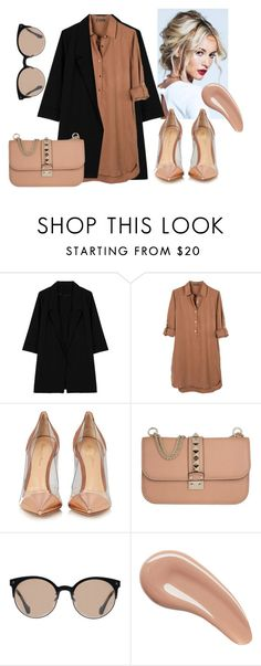 """Little Miss S. in a mini dress"" by selenophile98 ❤ liked on Polyvore featuring Lauren Conrad, WithChic, United by Blue, Gianvito Rossi, Valentino, Balenciaga and Charlotte Tilbury"