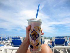 Drinking Coco Locos on CocoCay Bahamas