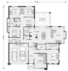 Floor plan friday: jack and jill bathroom for the kids house Dream House Plans, Modern House Plans, Small House Plans, House Floor Plans, The Plan, How To Plan, Bathroom Floor Plans, Home Design Floor Plans, Jack And Jill Bathroom