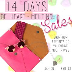 Let the countdown begin! ONLY 6 DAYS LEFT to shop the VDAY tab for 30% off all your favorite heart melting items on www.sophieandtrey.com. The stores are closed but to receive the offer in store, simply share or repos this or any of our valentines day graphics and show us at checkout! #sale #vday #hearts #love #monthoflove #sophieandtrey