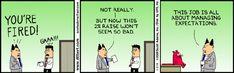 managing expectations comic Dilbert