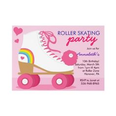 Roller skating party invite
