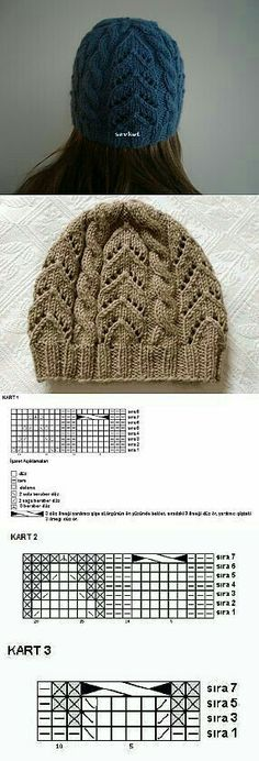 Ideas For Knitting Beanie Pattern Cable Crochet Baby Poncho, Crochet Beanie, Crochet Shawl, Knitted Hats, Knit Crochet, Knitting Stitches, Knitting Designs, Knitting Patterns, Crochet Patterns