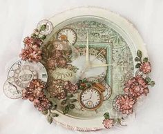 Tick Tock.... a clock!!!.... made by Alicia Barry using products from Heartfelt Creations