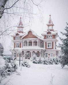 Wooden Architecture, Victorian Architecture, Beautiful Architecture, Beautiful Buildings, Beautiful Homes, Russian Architecture, Beautiful Castles, House Architecture, Victorian Style Homes