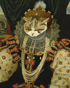 "Maru as ""Queen Elizabeth I"" by George Gower. 