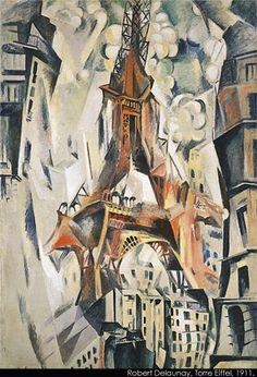 Eiffel Tower by Robert Delaunay (1911)