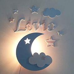 Wall lamp slumber light moon by Pinky Kiky Kinde . - Home Fashions : Wall lamp slumber light moon by Pinky Kiky Kinde . Baby Bedroom, Baby Boy Rooms, Baby Room Decor, Kids Bedroom, Nursery Decor, Baby Room Design, Nursery Design, Kids Lighting, Kids Furniture