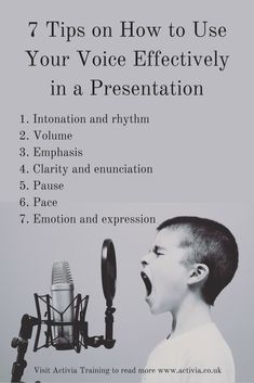 This article looks at 7 ways to use your voice effectively while doing presentations