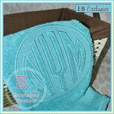 Embossed Circle Monogram Alphabet is perfect for towels.
