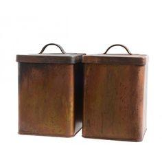 Decoris opbergdoos zink 14 x 14 x 19 cm koper