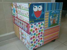Caja infantil con rueditas. Para juguetes