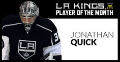 I just voted Jonathan Quick for October's McDonald's Player of the Month. Go here and cast your vote. http://lakings.com/playerofthemonth