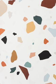 "The Terrazzo Wallpaper - Wallpaper / Peel & Stick - 141""W x 108""H / Light"