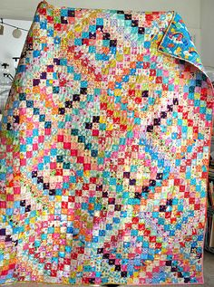 Kawaii Scrappy Trip Along Quilt Finished! Inspiration for my Pink Castle Fabrics Kawaii Club!!!