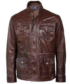Brown leather jacket for men / Bruine leren jas voor heren - Cirino | BLUEGOLD http://www.bluegold.nl/bruine-leren-jas-heren-Cirino/