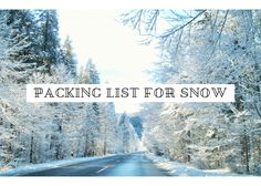 It might still be a bit early to be planning what to pack for a winter holiday, but since we're about to see Christmas decorations and the like just after Go Skiing, What To Pack, Winter Holidays, Travel Tips, Christmas Decorations, Essentials, Packing, Snow, How To Plan