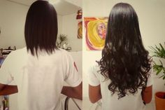 mega-hair-no-italiano-morena Cabelo Com Mega Hair, Hair Type, Pasta, Long Hair Styles, Beauty, Hair Lengthening, Fusion Hair Extensions, Types Of Hairstyles, Transitioning Hair