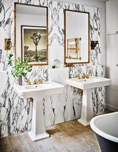 Bathroom by Nate Berkus and Jeremiah Brent in New York, NY