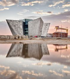 Titanic Museum Belfast. The cladding of the building looks like fractured shards of ice. Technology allows architects to push materials with such precision