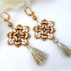 Boucles d'oreilles Mino avec les perles Arcos® et Ios® de Puca