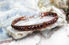 wire wrapped bracelet patterns   Jewelry Ideas   Project on Craftsy: Wire Wrapped Copper ...