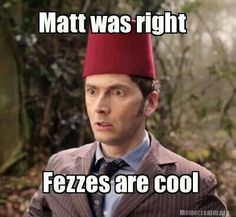 Fezzes are cool!...Doctor Who .. :)... http://www.pinterest.com/cwsf2010/doctor-who