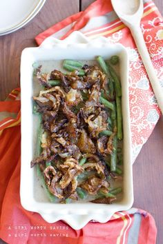 The Best Green Bean Casserole - Paleo Recipes, Gluten-free Recipes and Grain-free Recipes Primal Recipes, Whole Food Recipes, Healthy Recipes, Paleo Meals, Healthy Meals, Free Recipes, Healthy Food, Paleo Casserole Recipes, Best Green Bean Casserole