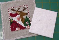 I personally don't think the Just Cross Stitch ornie magazine is very clear with their finishing instructions for 'newbies' so I thought I'd make one up myself to help peopl…