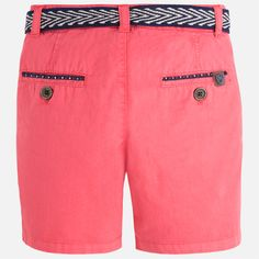 Pantalón corto niño tipo chino con cinturón Lichi