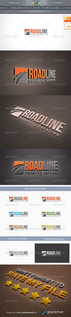 Roadline Logo Template — Vector EPS #highway #travel company • Available here → https://graphicriver.net/item/roadline-logo-template/2871427?ref=pxcr