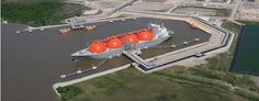 Sabine Pass LNG Marine Terminal Moffatt & Nichol provided EPC marine engineering design for the Sabine Pass LNG Terminal on the Sabine Waterway, approximately 5 miles from the Gulf of Mexico. The terminal features two unloading berths, trestle, access gangway, fire-monitoring tower, and shoreline revetment.
