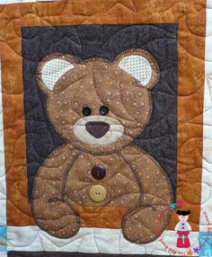 teddy bear applique designs | ... teddy bear lover :O) You are never too old to snuggle up with a teddy