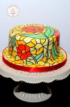 Stained Glass by Sugarpatch Cakes …See the cake: http://cakesdecor.com/cakes/177770-stained-glass