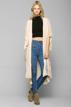 Band Of Gypsies Lace Godet Kimono Jacket urban outfitters