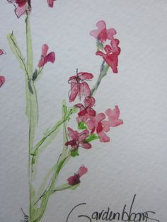 Wildflower Watercolor Card by gardenblooms on Etsy
